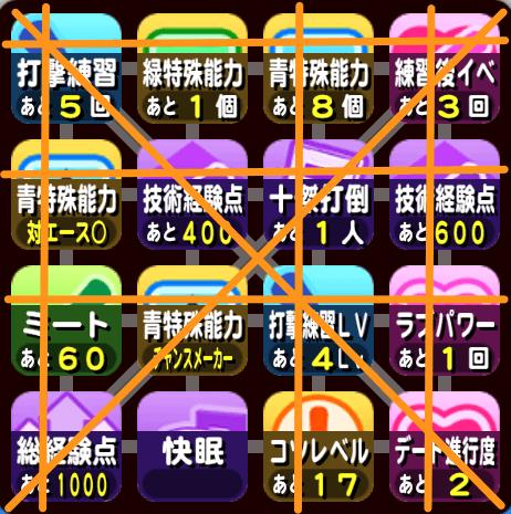 大阪オンライン予選のビンゴ3