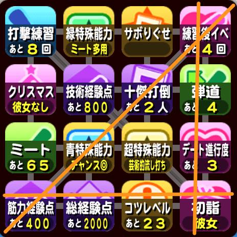 大阪オンライン予選のビンゴ4