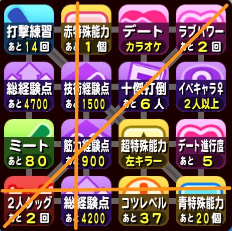 大阪オンライン予選のビンゴ6
